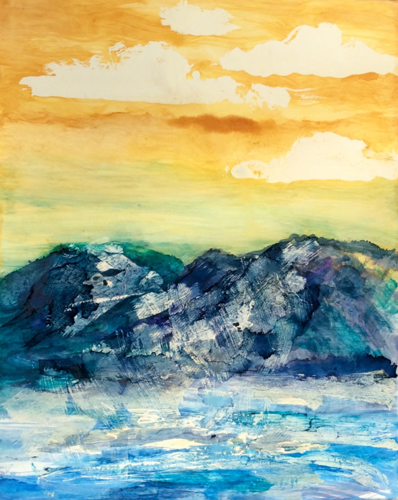The Highlands: Free class demo of Alcohol Inks + Wax Resist